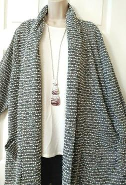 Lane Bryant NWT Duster Pockets Open Cardigan Top Plus 18/20