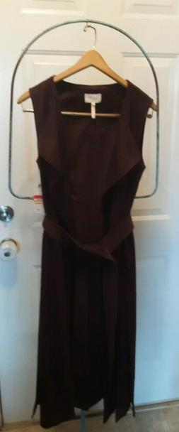 NWT Laundry  by Shelli Segal faux suede brown duster