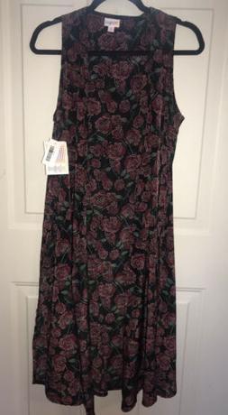 NWT Lularoe Joy Duster Roses Gothic Layering Piece Vest Card