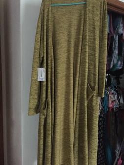 NWT LuLaRoe Size XL Heathered Yellow Stretchy Sarah Sweater