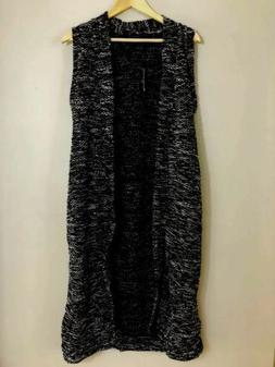 NWT French Laundry Womens Marled Duster Vest Sleeveless Open