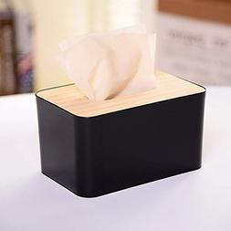 MaxFox Plastic & Wooden Tissue Box,European Style Home Tis