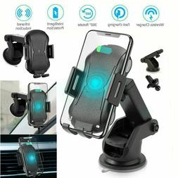 Qi Wireless Charging Car Charger Automatic Clamping Air Vent