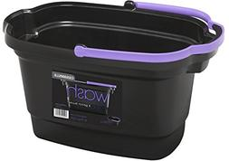 Casabella 4-Gallon Rectangular Bucket, Black