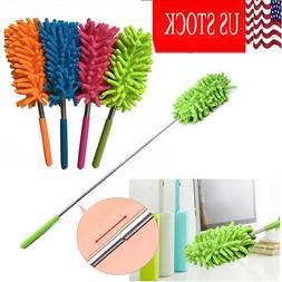 Retractable Washable Microfiber Long-Reach Dusting Brush Dus