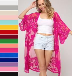 she and sky embroidered lace kimono sleeve