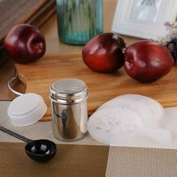 Stainless Coffee Shaker Duster Icing Sugar Powder Cocoa Flou