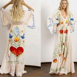 Fillyboo Strange Magic kimono maxi duster dress XS Free Peop