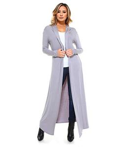 Isaac Liev Women's Super Long Flowy Floor Length Cardigan Du
