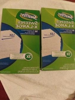 SWIFFER Sweeper 16 Dry Refill Cloths Pads Floor Cleaner Syst