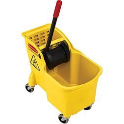 Rubbermaid Commercial Tandem 31-Quart Bucket/Wringer Combo,