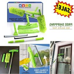 TeleExtend Squeegee Window Cleaner Kit! Shower Squeegee, Win