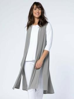 SYMPLI Travel Wear Side Slit Clean Front Duster Length GO TO