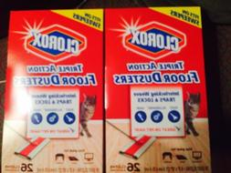 Clorox Triple Action Floor Dusters Two 26 Count Boxes Large