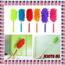 US Telescopic Duster Extendable Microfiber Dust Cleaner Hand