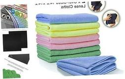 VibraWipe Microfiber Cleaning Cloths 5-Color Pack, 8 Pieces