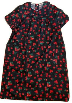 VTG BECO Open Snap Back Nightgown Cherries Duster Sz XL Home