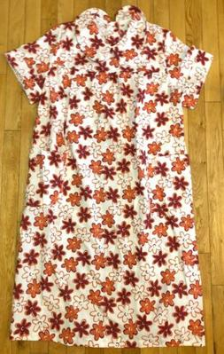 VTG BECO Open Snap Back Nightgown Floral Duster Sz Med Home