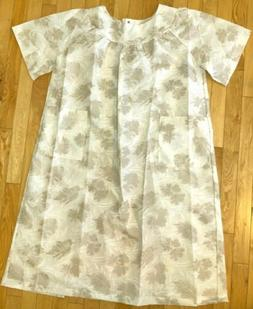 VTG BECO Open Snap Back Nightgown Floral Duster Sz L Home He