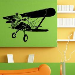 Wall Room Decor Art Vinyl Sticker Mural Decal Old Air Plane