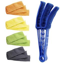 Hiware Window Blind Cleaner Duster Brush with 5 Microfiber S