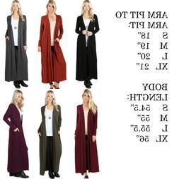 women s cardigan duster full length maxi