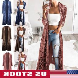 women s full length maxi cardigan duster