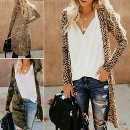Women's Maxi Long Sleeves Cardigan Sweater Duster Open Front