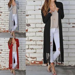 women s solid long kimono duster cardigan