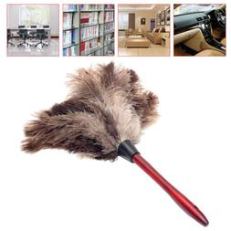 Wooden Handled Anti-static Ostrich Feather Fur Brush Duster